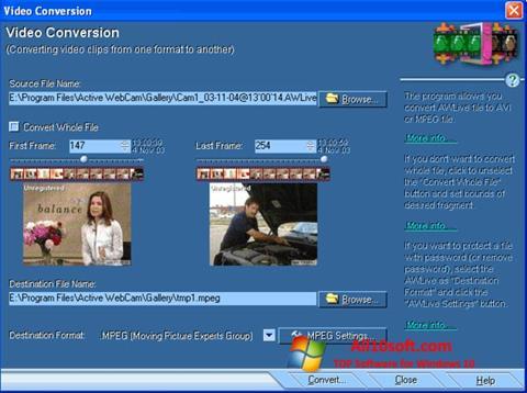 스크린 샷 Active WebCam Windows 10