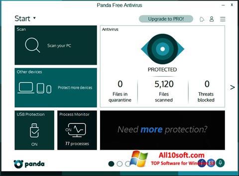 스크린 샷 Panda Windows 10