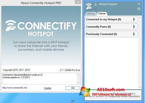 스크린 샷 Connectify Windows 10