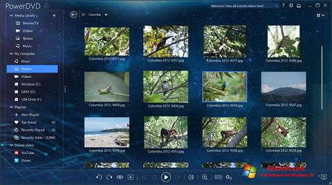 스크린 샷 PowerDVD Windows 10