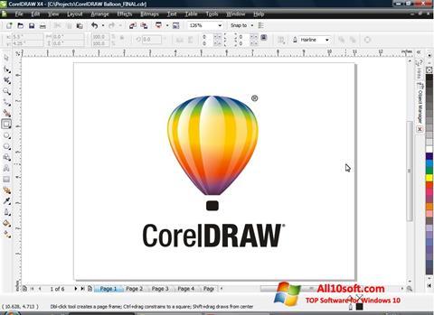 스크린 샷 CorelDRAW Windows 10