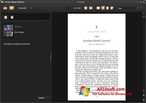 스크린 샷 Adobe Digital Editions Windows 10