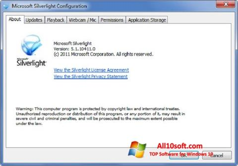 스크린 샷 Microsoft Silverlight Windows 10