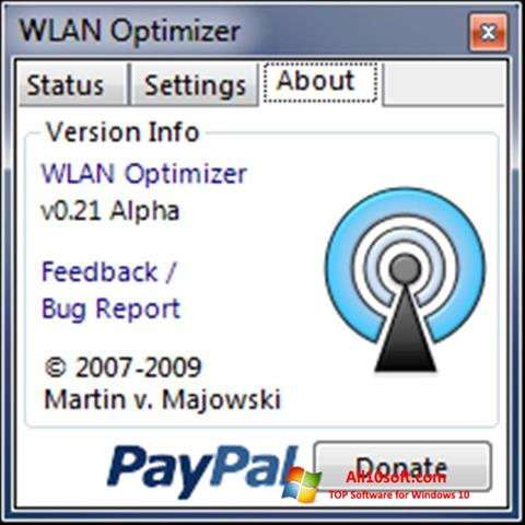 스크린 샷 WLAN Optimizer Windows 10
