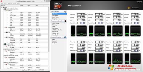 스크린 샷 AMD Overdrive Windows 10