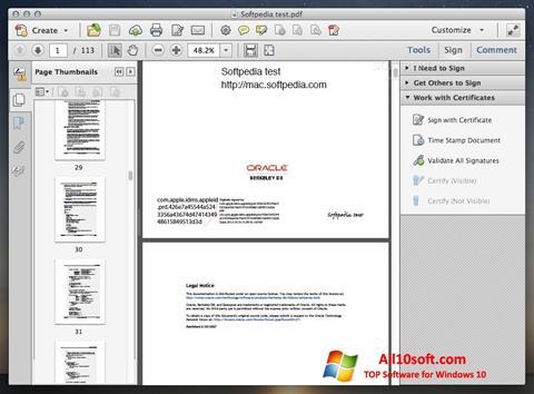 스크린 샷 Adobe Acrobat Windows 10