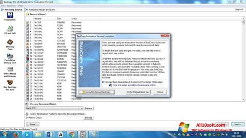 스크린 샷 BadCopy Pro Windows 10