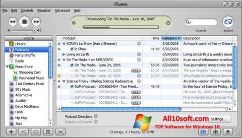 스크린 샷 iTunes Windows 10