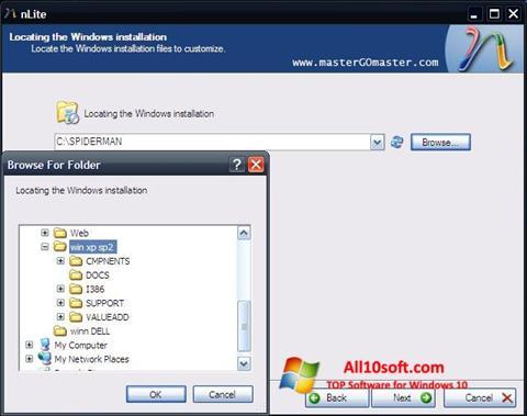 스크린 샷 nLite Windows 10