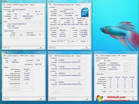 스크린 샷 CPU-Z Windows 10