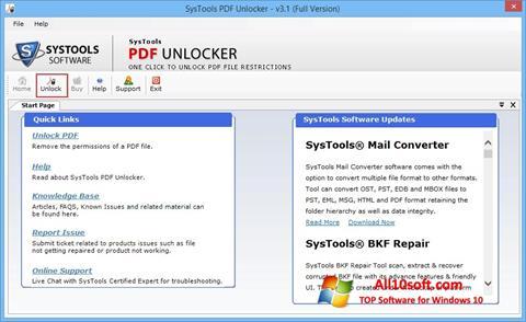 스크린 샷 PDF Unlocker Windows 10