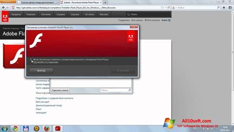 스크린 샷 Flash Media Player Windows 10