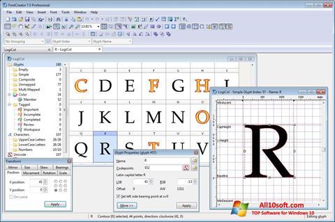 스크린 샷 Font Creator Windows 10