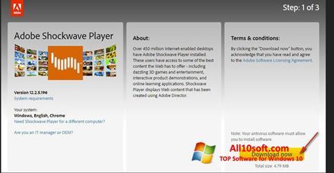 스크린 샷 Adobe Shockwave Player Windows 10