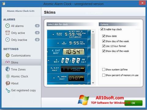 스크린 샷 Atomic Alarm Clock Windows 10