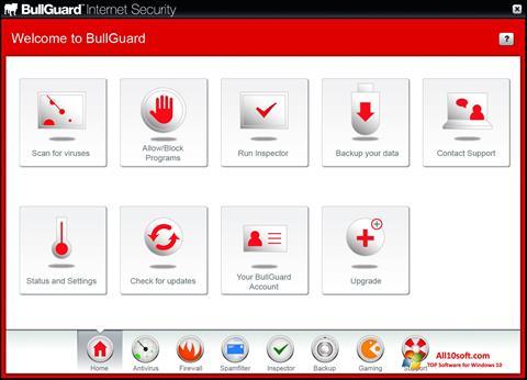 스크린 샷 BullGuard Windows 10