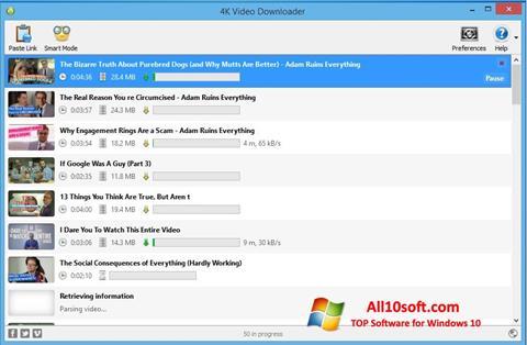 스크린 샷 4K Video Downloader Windows 10