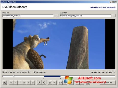 스크린 샷 Free Video Dub Windows 10