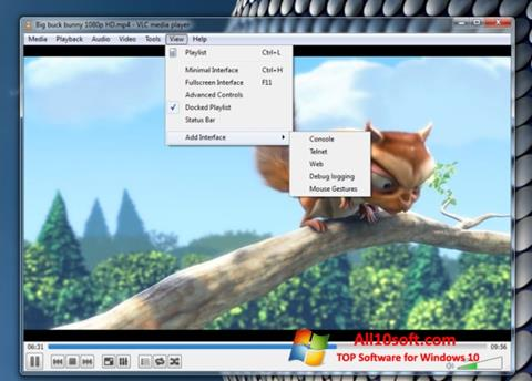 스크린 샷 VLC Media Player Windows 10