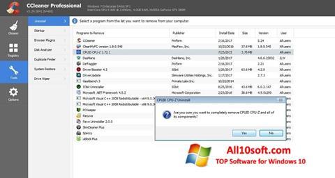 스크린 샷 CCleaner Professional Plus Windows 10