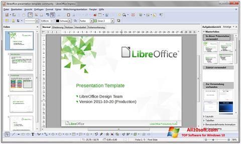 스크린 샷 LibreOffice Windows 10
