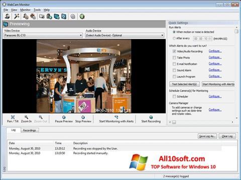 스크린 샷 WebCam Monitor Windows 10