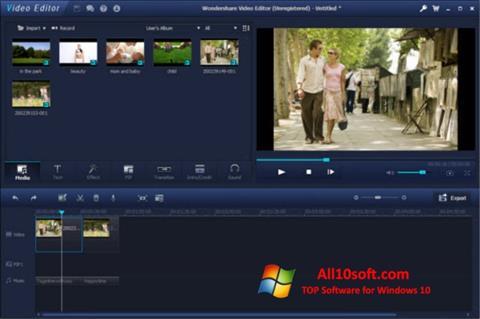스크린 샷 Wondershare Video Editor Windows 10