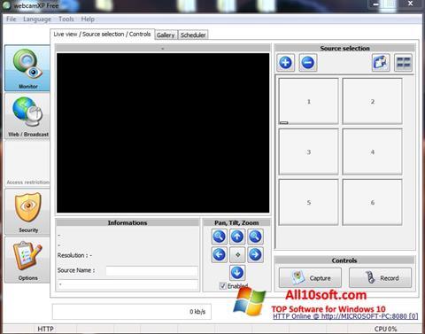 스크린 샷 webcamXP Windows 10