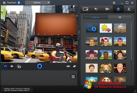 스크린 샷 CyberLink YouCam Windows 10