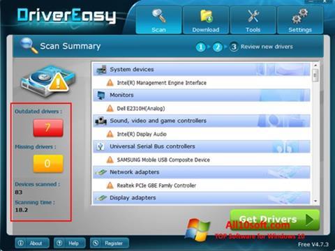 스크린 샷 Driver Easy Windows 10