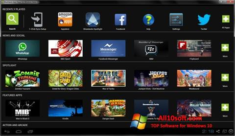 스크린 샷 BlueStacks Windows 10