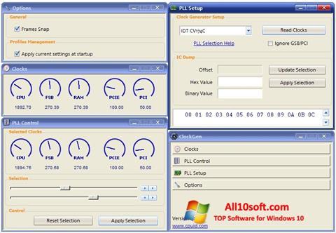 스크린 샷 ClockGen Windows 10