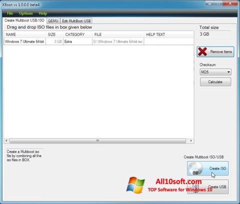 스크린 샷 XBoot Windows 10