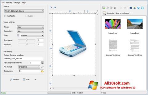 스크린 샷 WinScan2PDF Windows 10