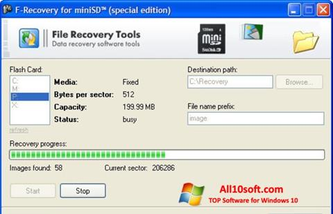 스크린 샷 F-Recovery SD Windows 10