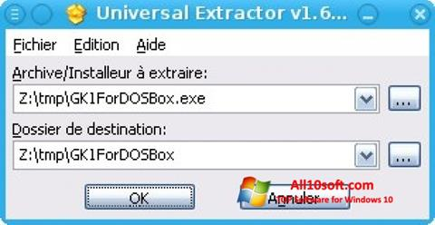 스크린 샷 Universal Extractor Windows 10