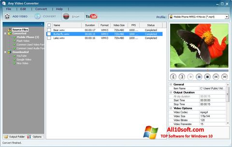스크린 샷 Any Video Converter Windows 10