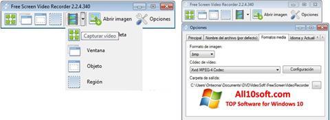 스크린 샷 Free Screen Video Recorder Windows 10