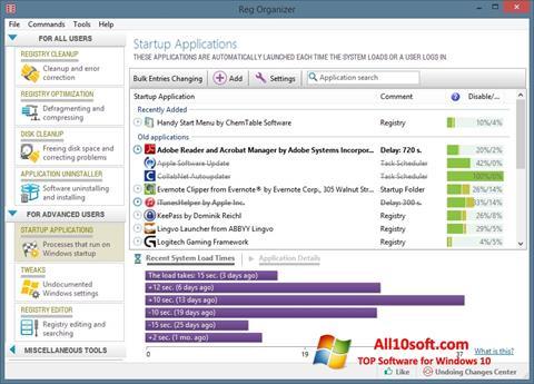 스크린 샷 Reg Organizer Windows 10