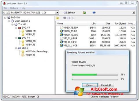 스크린 샷 IsoBuster Windows 10