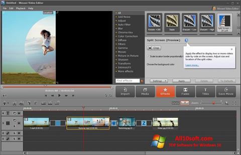 스크린 샷 Movavi Video Editor Windows 10