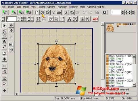 스크린 샷 Embird Windows 10