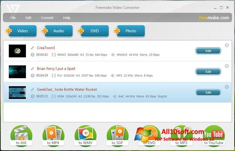 스크린 샷 Freemake Video Converter Windows 10