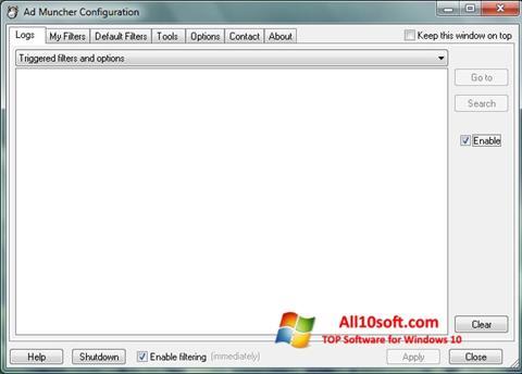 스크린 샷 Ad Muncher Windows 10