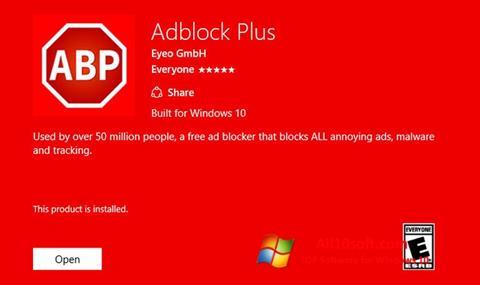 스크린 샷 Adblock Plus Windows 10
