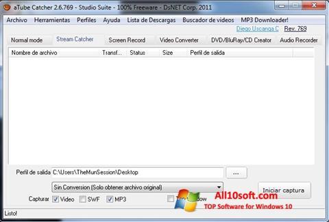 스크린 샷 aTube Catcher Windows 10