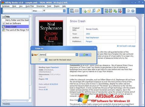 스크린 샷 All My Books Windows 10