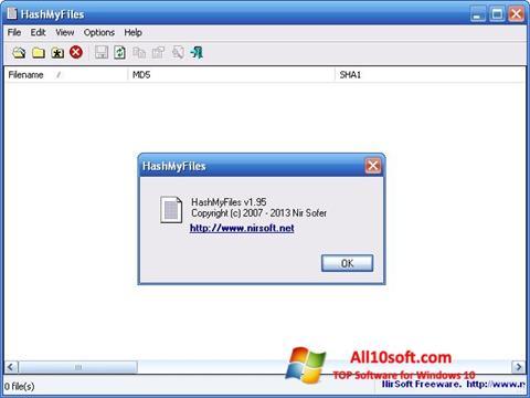스크린 샷 HashMyFiles Windows 10