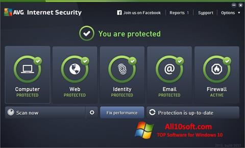 스크린 샷 AVG Internet Security Windows 10