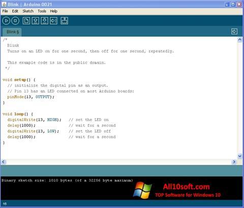 스크린 샷 Arduino Windows 10